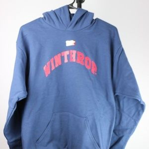 Other - Winthrop Eagles Youth Hooded Sweatshirt (Navy)